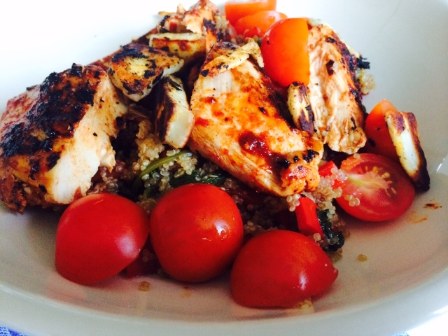 Harissa Chicken Quinoa Salad