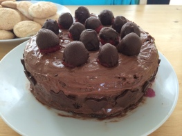 Gluten Free Amaretto Chocolate Cake