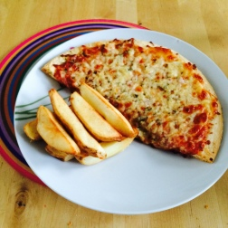 Gluten Free Pizza and chips