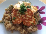 Quinoa and Halloumi